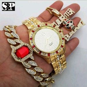 Other - MEN'S HIP HOP ICED OUT WATCH SET